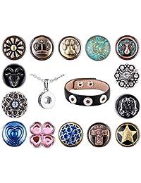 Morella señorías small Click-Button Set de collar 3er pulsera 14 pcs pulsadores