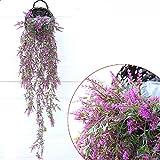 YOSPOSS 2pz paglia e salice cestino di vimini fiore vasi di fiore da appendere alla parete vaso appeso cesto rustico in rattan Half HIVE appeso fioriera