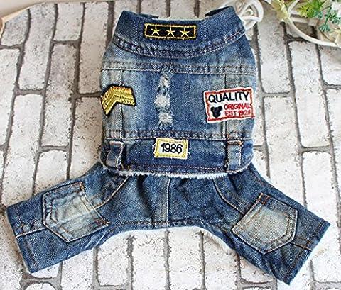 WYXIN Vêtements pour animaux de compagnie Teddy Bears Dog Four-Legged Cowboy Conjoined Autumn and Winter Clothes , xl