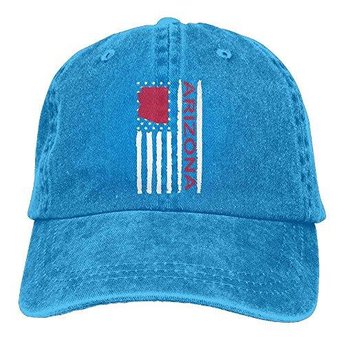 Walnut Cake Hüte,Kappen Mützen Baseball Jeans Cap Vintage Arizona State America Flag-1 Men Baseball Cap Adjustable Baseball Hat Arizona Boys Jean