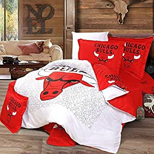 basketball chicago bulls 100 baumwolle basketball. Black Bedroom Furniture Sets. Home Design Ideas