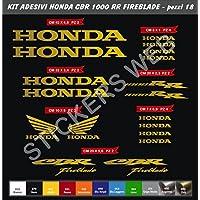 Adesivi stickers HONDA CBR 1000 RR FIREBLADE Kit 18 Pezzi -SCEGLI COLORE- moto motorbike Cod.0127 (Oro cod. 091)