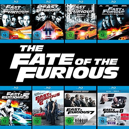 Fast and the Furious 1 - 8 Collection (8-Blu-ray) Kein Box-Set