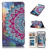 Nancen Wallet Case Tasche Hülle für Apple iPhone 6 Plus / 6S Plus (5,5 Zoll) Flip Schutzhülle Zubehör Lederhülle mit Silikon Back Cover PU Leder Handytasche im Bookstyle Stand Funktion