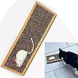 Katzen Kratzbrett Kratzmatte Katze Kratz Karton mit Katzenminze und Sisal Maus