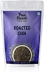True Elements Unsalted Roasted Chia Seeds, 125g
