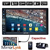 Marke Upgarde Version 7 Zoll kapazitiver Touch Screen Audio (Spiegel Link for GPS Android Phone) Double 2 Din Bluetooth Auto-Stereo-In-Schlag-Video Auto Radio ohne DVD-Player + R¨¹ckfahrkamera