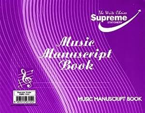 A5 Music Manuscript Book