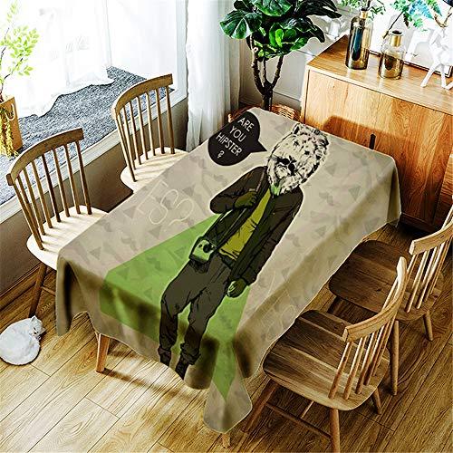 qwdf Schlichte nordische Moderne Tischdecke Tischdecke Baumwolle und Leinen Netz rote Tischdecke Sonnencreme Kleiner frischer runder Tisch Sofakissen