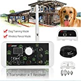 KKY 2 in 1 Wireless Dog Fence Training Containment System Transmitter + Receiver