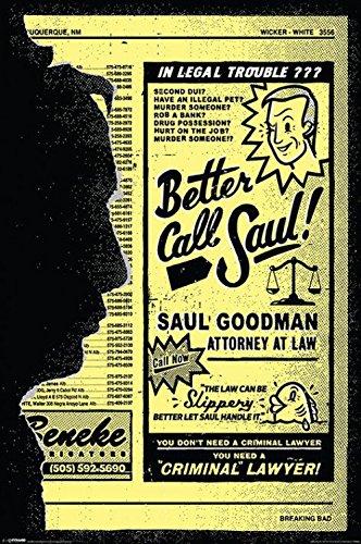 Set: Breaking Bad, Better Call Saul! Poster Stampa (91x61 cm) E 1x Poster Da Collezione 1art1®