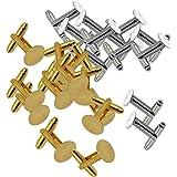 IPOTCH 12 Gemelli per Camicia da Sposo Vintage Gemelli Oro/Argento Base Vuota Fai-da-Te