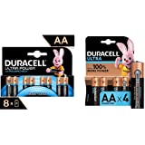 Duracell LR06 MX1500 Ultra AA con Powercheck - Batterie Stilo Alcaline & LR03 MN2400 Plus AAA - Batterie Ministilo Alcaline,