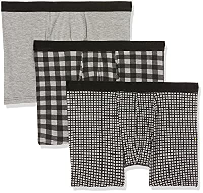 New Look Men's Grid Check Breif Pack Boxer Briefs