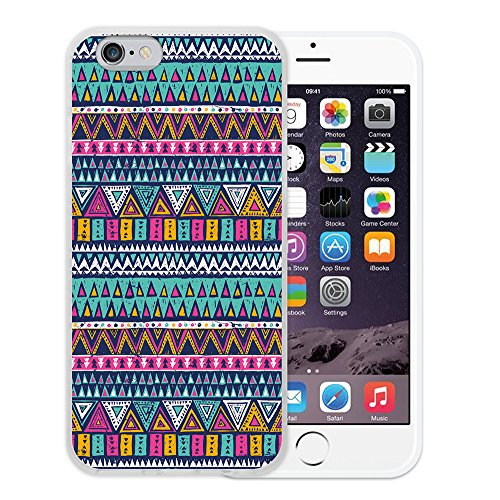 iPhone 6 6S Hülle, WoowCase Handyhülle Silikon für [ iPhone 6 6S ] Mondrian Stil Rechtecke Handytasche Handy Cover Case Schutzhülle Flexible TPU - Transparent Housse Gel iPhone 6 6S Transparent D0478