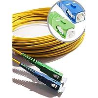 Elfcam® - Câble à Fibre Optique (Jarretière Optique) Compatible SC/APC à SC/UPC Compatible Free Box (5M)