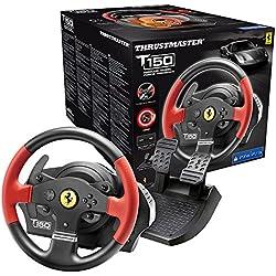 Thrustmaster T150 FERRARI EDITION - Volante - PS4 / PS3 / PC - Force Feedback - Licencia Oficial Ferrari