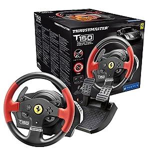 Thrustmaster T150 Ferrari Edition (Lenkrad inkl. 2-Pedalset, Force Feedback, 270° – 1080°, PS4 / PS3 / PC)