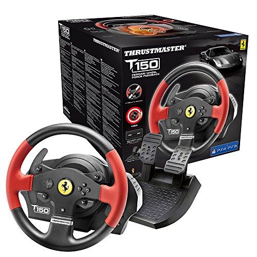 formel 1 lenkrad ps4 Thrustmaster T150 Ferrari Edition (Lenkrad inkl. 2-Pedalset, Force Feedback, 270° - 1080°, PS4 / PS3 / PC)