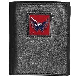 NHL Washington Capitals Genuine Leather Tri-Fold Wallet