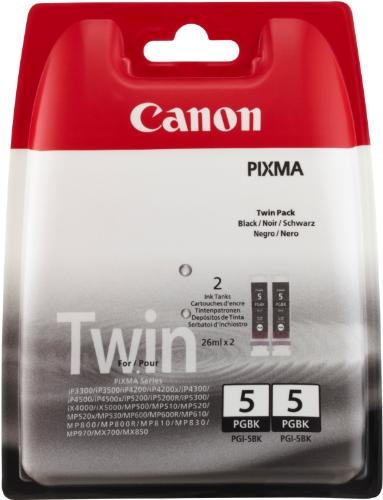 Preisvergleich Produktbild Canon PGI-5 BK Tintenpatronen Doppelpack 2 x 26ml, schwarz