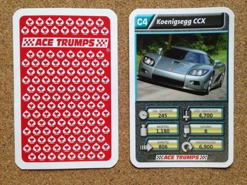 top-trumps-single-card-ace-cartamundi-luxury-cars-koenigsegg-ccx-silver