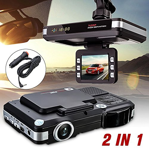 Tonsee 2 in 1 5MP Car DVR Recorder + Radar Speed Detector Traffic Alert - Radar