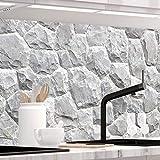 StickerProfis Küchenrückwand selbstklebend Pro GRANITSTEIN 60 x 220cm DIY - Do It Yourself PVC Spritzschutz