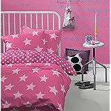 Damai Bettwäsche Baumwolle Starville 135 x 200 / 80x80cm pink 69 (B7933469)