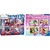 Ravensburger 3019 Disney Frozen 2, 4 in Box (12, 16, 20, 24 Piece) Jigsaw Puzzles & 7397 Disney Princess-4 in Box (12…