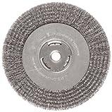 Weiler Brush 36006 Vortec Crimped Wire Wheel Brush-8' WIDE FACE WIRE WHEEL