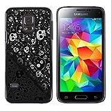 Graphic4You Skull Death Theme Muster Design Harte Dünn Hülle Tasche Schale Schutzhülle für Samsung Galaxy S5 Mini
