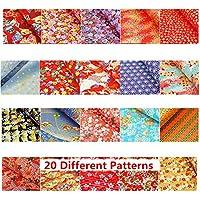 Yuzen de Papel Washi Patterns japonés Durable fuerte de papel para Origami total 20hojas, color 7.7x10.7 inch