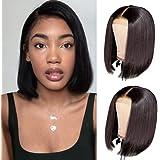 Short Bob Wigs Human Hair 4x4 Lace Closure Wigs Brazilian Virgin Straight Human Hair Bob lace Front Wigs for Black Women Pre