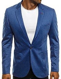 OZONEE Herren Sakko Business Anzug Kurzmantel BLACK ROCK 021
