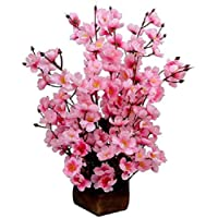 Sofix Artificial Flower with Wood Pot (Pink)
