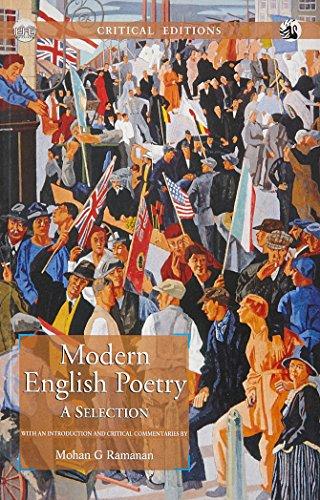 Portada del libro Modern English Poetry: A Selection [Paperback] [Nov 21, 2013] Mohan G. Ramanan