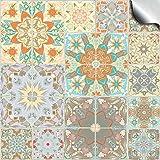24 stück Fliesenaufkleber für Küche und Bad (Tile Style Decals 24x TP 55 - 6