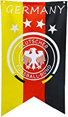 Ocamo 70x125CM Football Fans World Cup Flag Banners Hanging Emblem Bunting for Bar Party Decorations