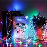 Amzdeal 600 LEDs Rideaux des Lumières LED Multicolores Guirlande lumineuse Décoration de mur ou de fenêtre pour Mariage, Noël 6*3m