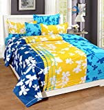 #5: Home Elite 124 TC Cotton Double Bedsheet with 2 Pillow Covers - Floral, Multicolour