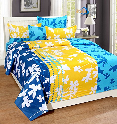 Home Elite 124 TC Cotton Double Bedsheet with 2 Pillow Covers -...