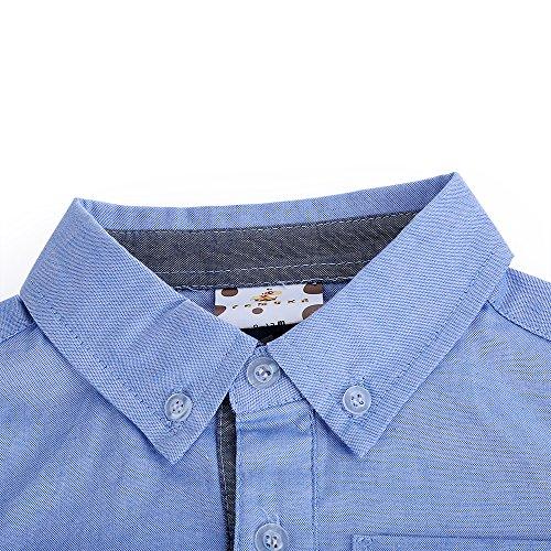Bebone männliche und weibliche Babys inoffizielles,dreieckiges, baumwolles Shirt (Blau, 6-9Monate)