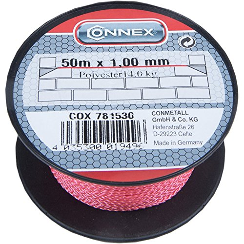Connex cox781530Mason 's Schnürung Kordel, Pink, 1mm x 50m -