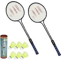 Sunley Polo Set of 2 Piece Badminton Racket with 6 Piece Nylon Shuttle