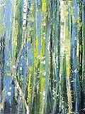 Artland Qualitätsbilder I Wandtattoo Wandsticker Wandaufkleber 30 x 40 cm Abstrakte Motive Muster Streifen Malerei Blau C6YT Birkenhain