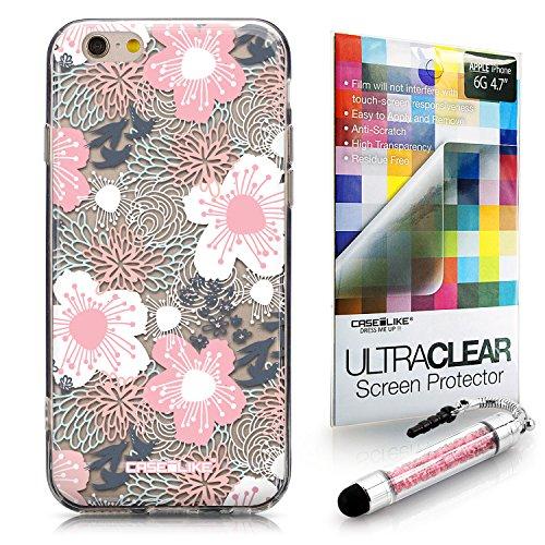CASEiLIKE Wandschmierereien 2703 Ultra Slim Back Hart Plastik Stoßstange Hülle Cover for Apple iPhone 6 / 6S (4.7 inch) +Folie Displayschutzfolie +Eingabestift Touchstift (Zufällige Farbe) 2255