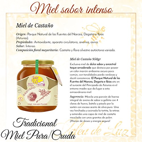 Jalea de Luz Miel Cruda Pura de Castaño - 950 gr.