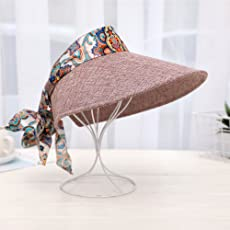 EDTara Foldable Wide Brim Hollow Top Sunscreen Fashion Sun Hat for Women
