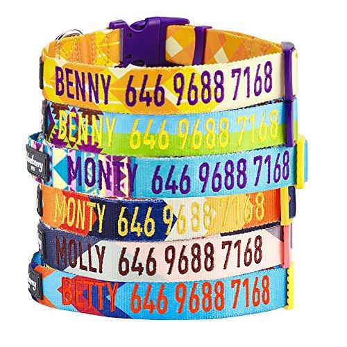 mirtillo-pet-personalizzato-regolabile-classico-colore-solido-collare-ricamato-con-nome-e-numero-di-